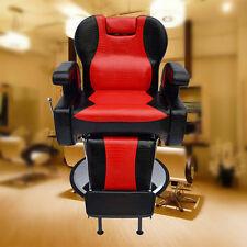 Barber Chair Black&red Salon Hydraulic Reclining Hairdressing Shaving Heavy Base