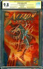 Action Comics #1000 (2018) CGC 9.8 Boutique (Gold Foil) Signed JIM LEE x6