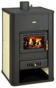 Wood Burning Stove Boiler Multi Fuel Fireplace  Prity S3 W17 DIFFERENT COLORS