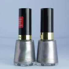 Revlon Nail Polish Smoldering & Silver Screen Silver Duochrome Shimmer Lot of 2