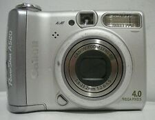 """Canon PowerShot A520 outfit in original box, 4MP """"traditional design"""""""