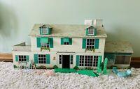 Original Vintage Louis Marx Toys Tin Doll House Rare Large With Furniture