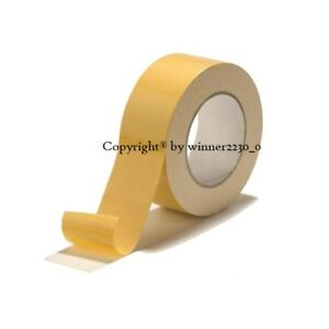 """1 Roll Premium Double Sided Tape 50mm 5cm 2"""" Wide 30 Metres Length most surfaces"""