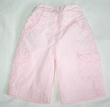 Lovely baby girls pink cotton trousers from Bambini at BHS, 0-3 months
