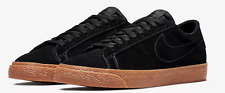 Nike SB Zoom Blazer Low pour Homme en Daim Noir Gomme Chaussures De Skate Neuf Taille UK 9.5