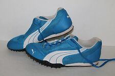 PUMA Complete TF AllRound Track Spikes, #180835-04, Blue/Wht/Blk, Men's US 7.5