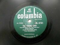 CLIFF RICHARD THE SHADOWS we say yeah/young ones INDIA RARE 78 RPM record EX-