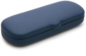 NEW Hard Case for Eyeglasses Glasses  Blue w/ Cleaning Cloth 154x57x32mm C7