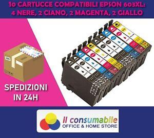10 Cartucce per EPSON 603 XL Stella Marina WF 2810 2830 2835 2850 DWF