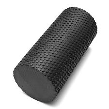 EVA Yoga Foam Roll Black Massage Grid Exercise Fitness PILATES Gym Roller Black