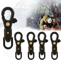 5Pcs EDC Outdoor Hiking 360°  Rotation Carabiner Clip Hook Key Chain Buckle SM