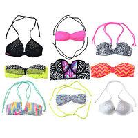Victoria's Secret Pink Bikini Swim Top Bathing Suit Swimsuit Bling Vs New Nwt