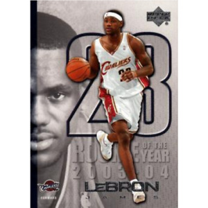 LEBRON JAMES 2005 UPPER DECK ROOKIE OF THE YEAR LJ40