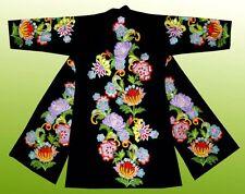 Wonderful Uzbek Silk Embroidered Robe Chapan Bukhara V2216