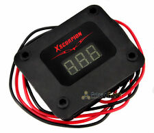 Xscorpion Black 3 Digit Digital Volt Meter Red Led Car Audio Voltage Display