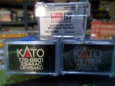 """Kato N Scale GE ES44AC (2) """"GEVO""""S Union Pacific with UP Caboose"""