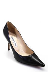 Jimmy Choo Womens Pointed Toe Classic Pump High Heels Black 38
