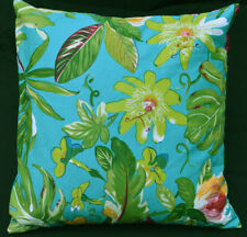 LF805a Teal Blue Green Yellow Red Cotton Canvas Cushion Cover/Pillow Cover