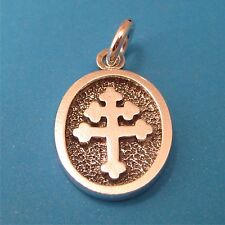 Cross Of Lorraine Pendant - Solid Sterling Silver (#45)