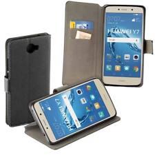 Book Style Case für Huawei Y7 Tasche Schutz Hülle Etui schwarz mit Standfunktion
