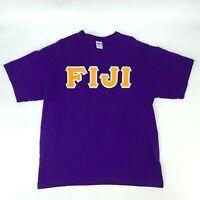 Fiji Island T-shirt Men's Size XL Purple Short Sleeve Crew Neck Polynesian Tee