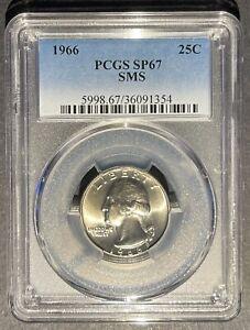 1966 SMS Washington Quarter PCGS SP-67, Buy 3 Items, Get $5 Off!!