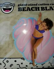 New Big Mouth Beach Blanket Pool Towel Giant Cotton Candy Pink Beach Blanket