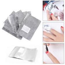 200 PZ foglio di alluminio NAIL ART SOAK OFF SMALTO GEL ACRILICO NAIL WRAPS Remover