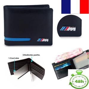 Portefeuille ///M style BMW bleu et noir - porte carte de crédit permis Cuir