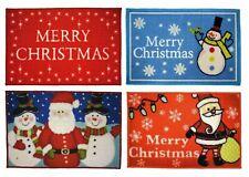 Christmas Door Mats Festive Xmas Rug Merry Santa Snowman Gift Non Slip