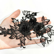 1PC, Motif Embroidery 3D Flower Lace Applique Sewing Bridal Wedding Trims FL215