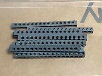 LEGO Parts - Dark Bluish Gray Technic Brick 1 x 16 w Holes - No 3703 - QTY 10