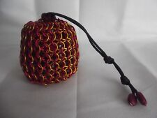 Harry Potter Gryffindor Large Chainmaille Chainmail Dice Bag Pouch Red Gold RPG