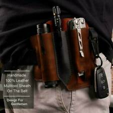 Multitool Leather Sheath EDC Pockets Organizer - High Leather Quality