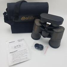 Galileo Binoculars Fully Coated 10X50 Wide Angle Model C-1050WA Case Lens Covers