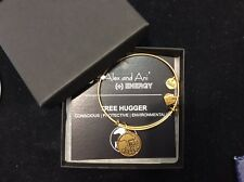 """Authentic Alex and Ani """"Tree Hugger"""" Bracelet Russian Gold, NWT"""