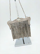 1900's Antique Vintage German Silver Victorian Chain Mesh Purse