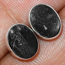 Russian Elite Shungite 925 Sterling Silver Earring - Stud Jewelry AE163989