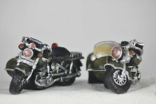 Motor Bike and Sidecar Models - Set of 2 - Retro Style - Bikers or Birthday Gift