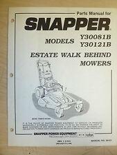 SNAPPER ESTATE WALK BEHIND MOWERS Y30081B, Y30121B. PARTS MANUAL .06151