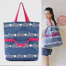 Women Girls Lady Fashion 2 ways Handbag shoulder shopping canvas Bags Tote bag