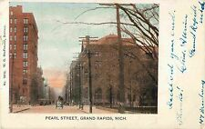 Horse & Wagon on Pearl Street, Grand Rapids MI 1905