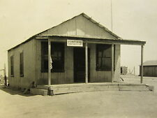 ANTIQUE AMERICAN POST OFFICE USPS LOST HILLS CALIFORNIA CA FLAG PORCH OLD  PHOTO