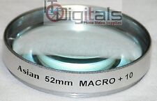 52mm Macro +10 Close-Up Glass Lens Filter 52 mm