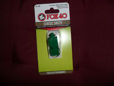 FISCHIETTO ARBITRO FISCHIO FOX 40 VERDE ORIGINAL FOX40 GREEN REFREE WHISTLE AIA