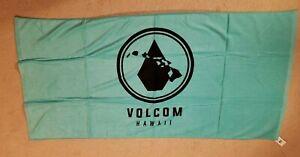 NEW Volcom Hawaii Beach Towel Aloha Teal Color Bath HAWAII ONLY