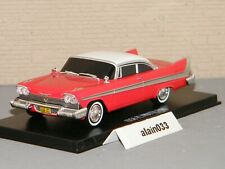 plymouth fury evil version 1958 1/43 rouge greenligth (fim cristine)