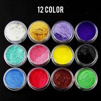 12PCS Mineral Dye Soap Powder Mica Colorant Cosmetic Pure Colour DIY Craft Acc