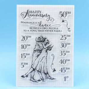 Happy Anniversary Transparent Silicone Clear Stamp Diary Scrapbooking DIY Decor