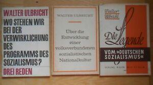 Walter Ulbricht Legende vom deutschen Sozialismus Bitterfelder 3x Propaganda DDR